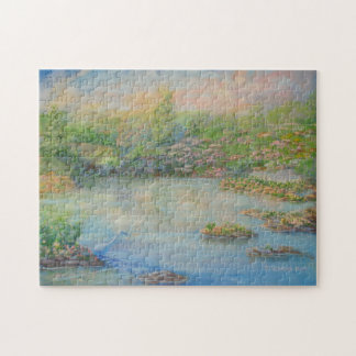 Heron at the Pond Jigsaw Puzzle