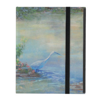 Heron at the Pond-Small iPad Case