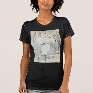 Heron beneath a willow tree by Ryuryukyo,Shinsai T-Shirt
