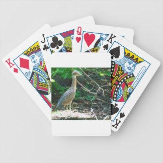 heron bicycle playing cards