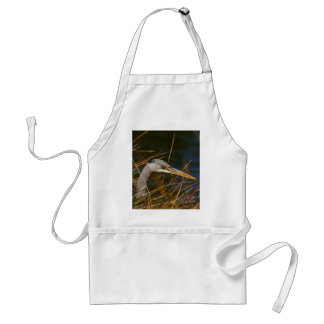 Heron in the grass standard apron