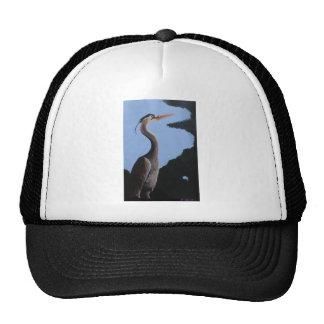 Heron in the trees cap