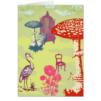 Heron in Wonderland Greeting Card