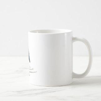 Heron Meditation, Sumi-e Great Blue Heron Coffee Mug