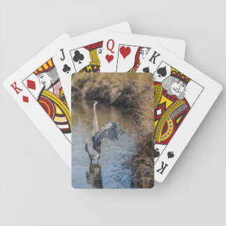 Heron on the Water Playing Cards