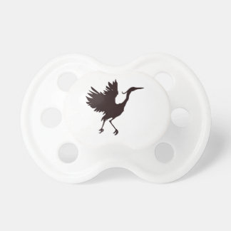 Heron Silhouette Pacifier