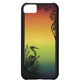 Heron Silhouette Rainbow Barely There Case