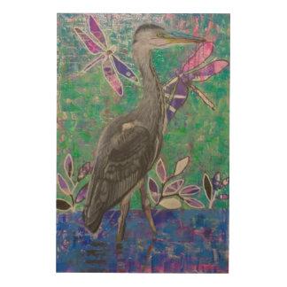 Heron Stand in the Dee Wood Print