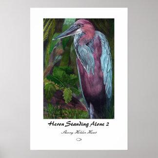 Heron Standing Alone 2 Print