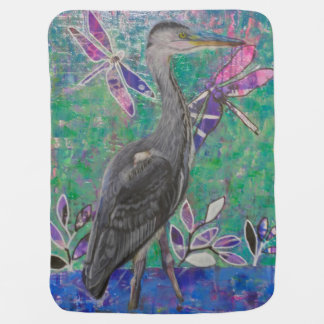 Heron Stands in the Dee Baby Blanket