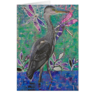 Heron Stands in the Dee Card