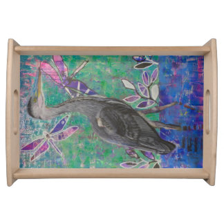 Heron Stands in the Dee Tray