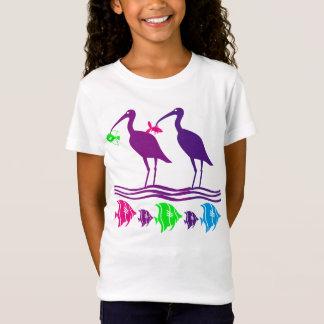 Herons and Fish Design T-Shirt