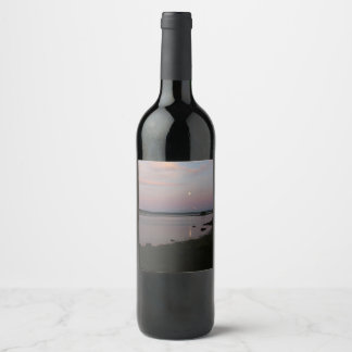 Herons in the Moonlight Wine Label