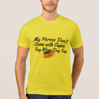 heros wear dogtags salute armed forces super-hero T-Shirt