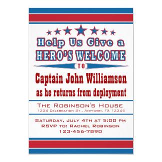 Hero's Welcome Military Welcome Home Invitation