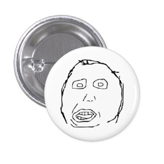 Herp Derp Idiot Rage Face Meme 3 Cm Round Badge