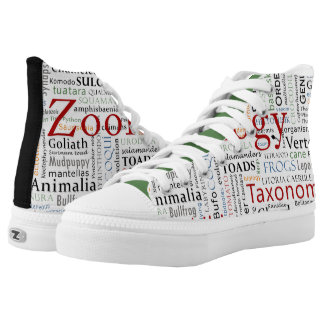 Herpetology in Typography Printed Shoes