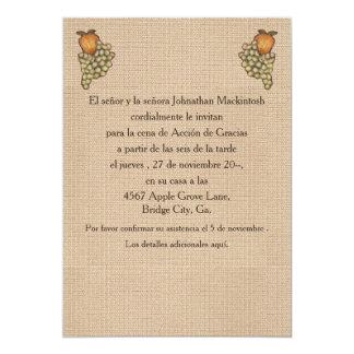 Herradura de Acción de Gracias Arriba 5x7 Paper Invitation Card