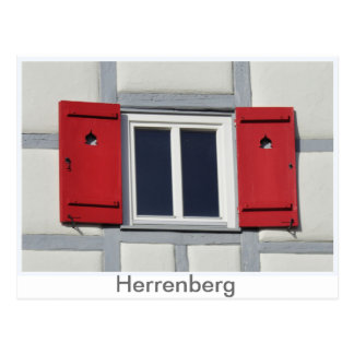 Herrenberger window shutter postcard