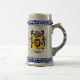 Herrera Family Coat of Arms on a Stein