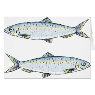 Herring Fish Sketch Card