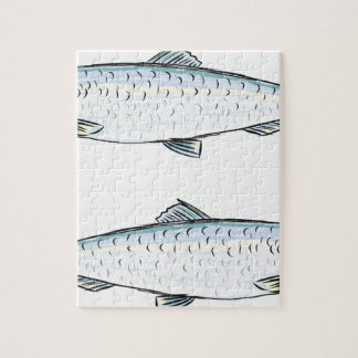 Herring Fish Sketch Jigsaw Puzzle