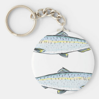 Herring Fish Sketch Key Ring