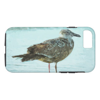 Herring Gull on Beach Abstract Impressionism iPhone 7 Case