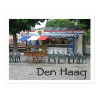 Herring vendor postcard