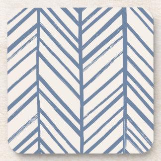 Herringbone Coaster - Denim
