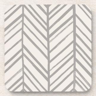 Herringbone Coaster - Gray