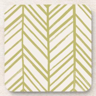 Herringbone Coaster - Moss