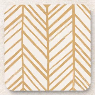Herringbone Coaster - Tan