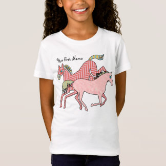 Herringbone Horses (Personalized) T-Shirt