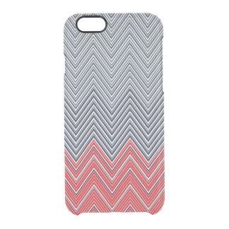 Herringbone Nautical Clear iPhone 6/6S Case