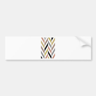 Herringbone Pattern Bumper Sticker