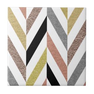 Herringbone Pattern Ceramic Tile