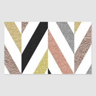 Herringbone Pattern Rectangular Sticker