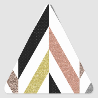 Herringbone Pattern Triangle Sticker