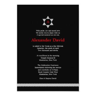Herringbone Star Bar Mitzvah Invitation