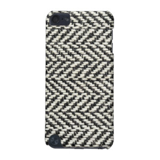 Herringbone Tweed Rustic Black White Knit Print iPod Touch (5th Generation) Cover