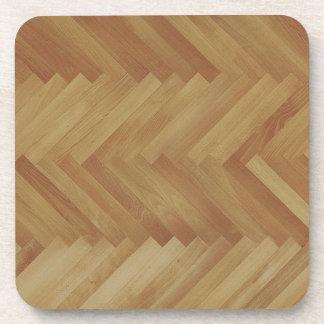 herringbone wood coasters