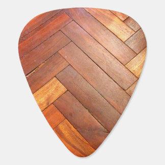 Herringbone Wood Pattern Guitar Pick