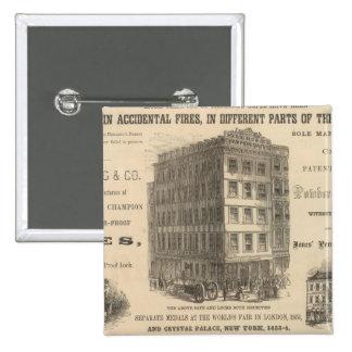 Herring's Patent Champion Safes 15 Cm Square Badge
