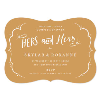 Hers and Hers Gay Couples Shower Invitation