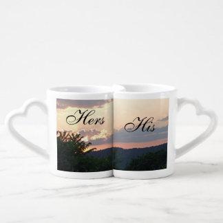 Hers and His Sunset Lovers Mug Set