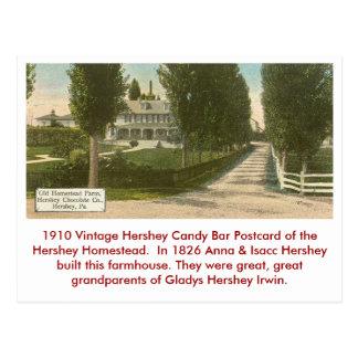 Hershey Candy Bar Postcard