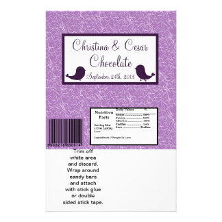 Hershey's Large Bar Wrapper Bird Swing Purple BG 14 Cm X 21.5 Cm Flyer