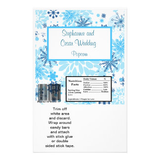 Hershey's Large Bar Wrapper  Blue Tree / Snowflake